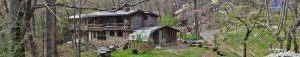 moonshadow permaculture landscape solar powered natural building springtime in tennessee hiking camping tours workshops