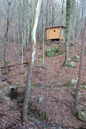 Four Oaks Natural Building Structure at SVI Southeast Tennessee Forest