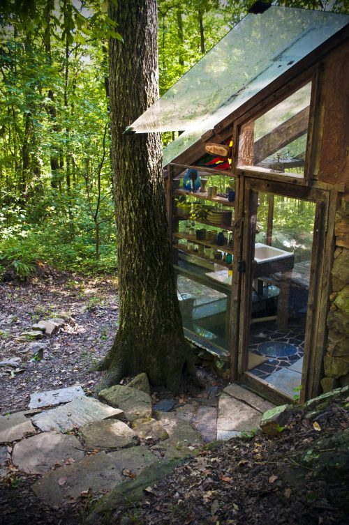 mud dauber door natural building structure